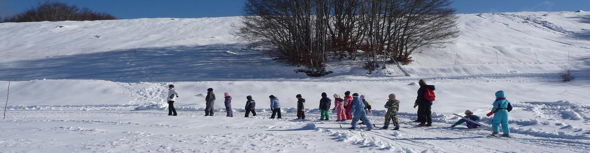 """<div class=""""sliderdesc""""> <h4>Un espace ludique accessible à tous.</h4> La station compte une zone d'initiation pour le ski de fond et un piste de luge pour les plus jeunes. Vous pourrez profitez également de la salle hors sac avec une cheminée pour venir passer un moment de détente au coin du feu..<br><br> Si vous n'avez pas de matériel, la station propose au buron d'accueil la location de skis, raquettes ou luges. <br><br> <a href=""""http://www.aubrac-sud-lozere.com/la-station-de-ski/tarifs-forfait-et-location/"""">Voir tarifs forfaits et location matériel</a> </div>"""