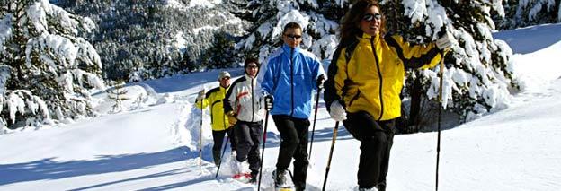Raquette à neige - Aubrac sud lozere