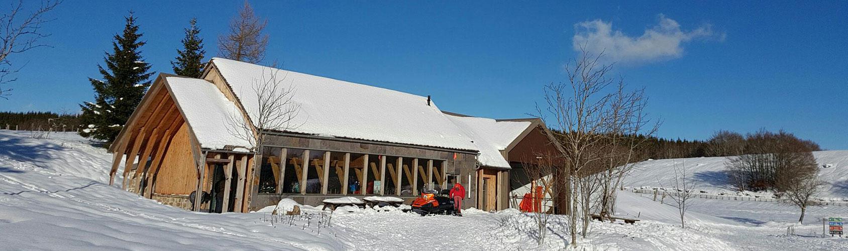 """<div class=""""sliderdesc""""> <h4>Découvrez l'Espace Aubrac Sud !! </h4> La station de ski Aubrac Sud, agréée Nordic France vous accueille tout au long de l'hiver. En ski de fond, raquettes de neige ou luge, venez vous ressourcer sur le site de Bonnecombe.   <br><br> En famille ou avec des amis, petits comme grands, offrez vous un moment de détente et de convivialité dans une nature préservée.<br><br> <a href=""""https://www.aubrac-sud-lozere.com/la-station-de-ski/les-activites/"""">Les activités de la station</a> </div>"""